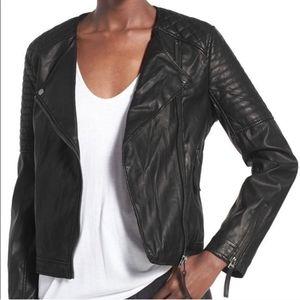Topshop Faux Vegan Leather Moto Jacket